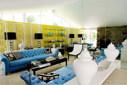 Modern Family Room by Riddle Design Group