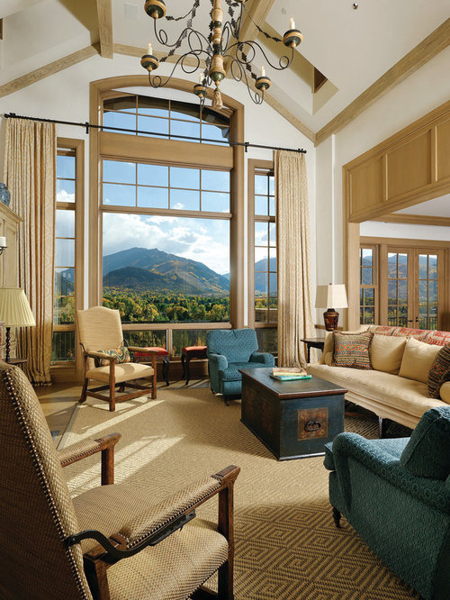 Large windows treatments houzz - Houzz window treatments living room ...