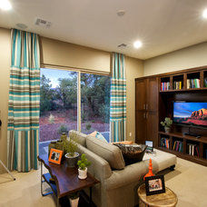 Transitional Family Room by Dorn Homes