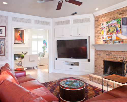 Tv Over Corner Fireplace Home Design Ideas, Pictures, Remodel and Decor