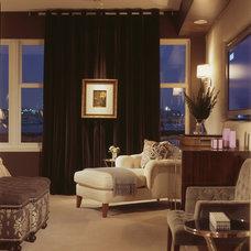 Contemporary Family Room by Patrick Sutton Associates