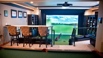 River Glen Basement Expansion - Golf Simulator