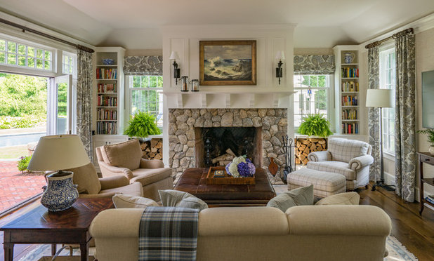 Traditional Family Room by Sally Weston Associates
