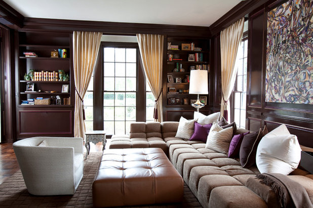 Epic Transitional Family Room by Laura U Inc