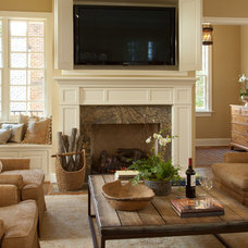Traditional Family Room by Carnes Home Builders