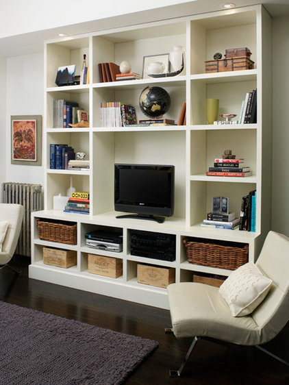 Contemporary Family Room by Emily Griffin Design