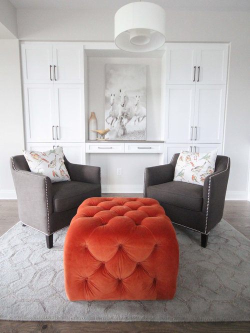 Orange Ottoman Houzz