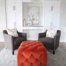 Transitional Family Room by Leclair Decor