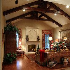 Mediterranean Family Room by RJ Aldriedge Companies Inc