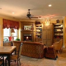 Traditional Family Room by RJ Aldriedge Companies Inc