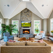 Traditional Family Room by Dennis M. Carbo Photography