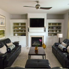 Contemporary Family Room by Erika Ward - Erika Ward Interiors