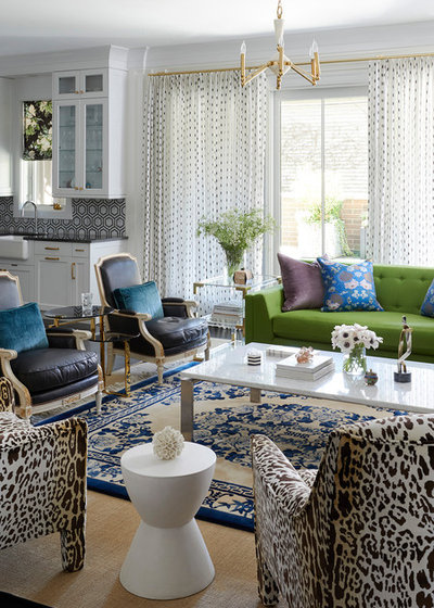 Contemporary Family Room by Summer Thornton Design, Inc