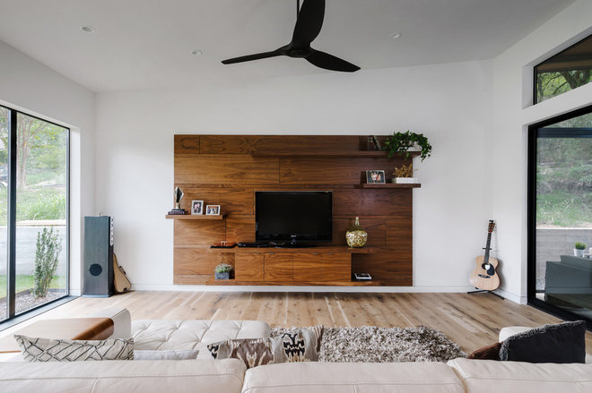 Contemporary Family Room by Deville Custom Homes