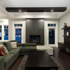 Contemporary Family Room by Westeck Windows and Doors