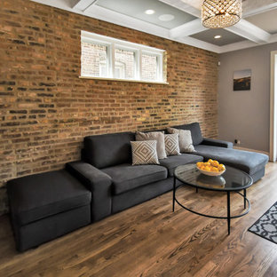 Family Room with original brick exposed - ROCKWELL