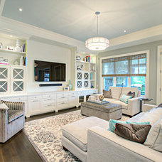 Transitional Family Room by Rockwood Custom Homes