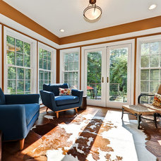 Contemporary Family Room by Arlington Construction Management