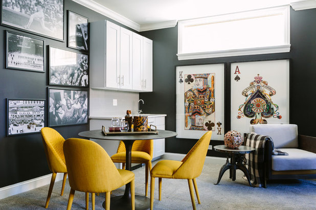 Eclectic Family Room by Anthony Michael Interior Design, Ltd.