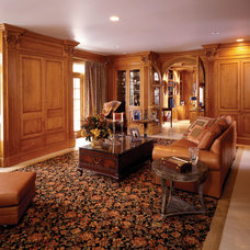 Traditional Family Room by Odhner & Odhner Fine Woodworking Inc.