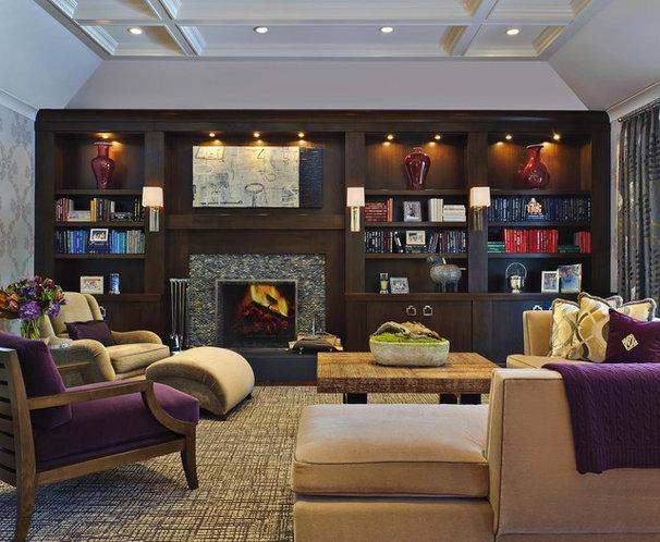 Modern Family Room by Evelyn Benatar, New York Interior Design