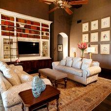 Mediterranean Family Room by Ryan O'Meara Interiors