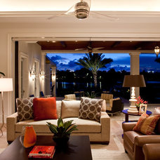 Traditional Family Room by Godfrey Design Consultants Inc