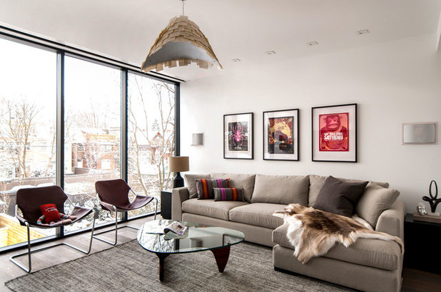 Contemporary Family Room by Shirley Meisels