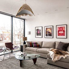 Modern Family Room by Shirley Meisels