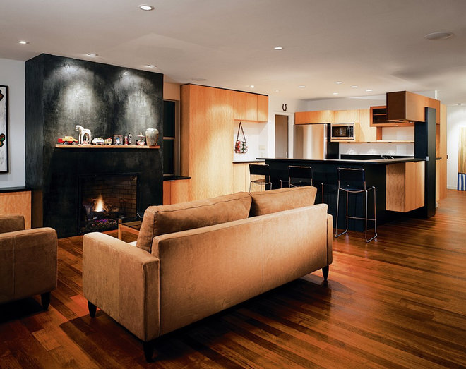 Contemporary Family Room by Coop 15 Architecture
