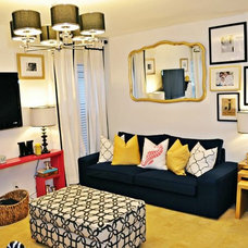 Contemporary Family Room by Nicole White Designs Inc