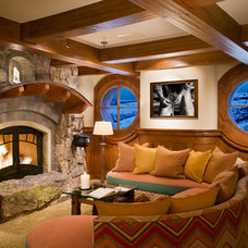 Traditional Family Room by Beck Building Company