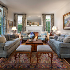 Traditional Family Room by W.A. Bentz Construction, Inc.