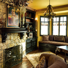 traditional family room by Rick Hoge