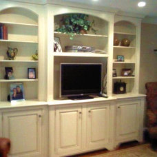 Traditional Family Room by RSG WoodWorks