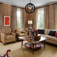 Transitional Family Room by David Barden Interior Design