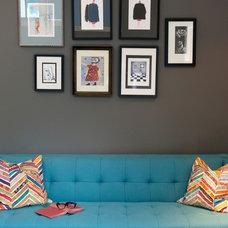 Contemporary Family Room by Kyla Bidgood Interior Design