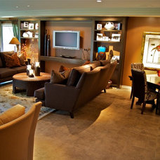 Traditional Family Room by LO Interiors