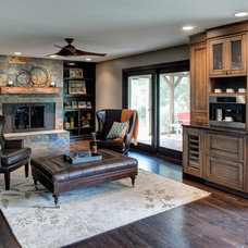 Transitional Family Room by Brandie McCoy, CKD