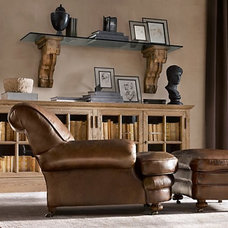 Traditional Family Room Rustic Corbels