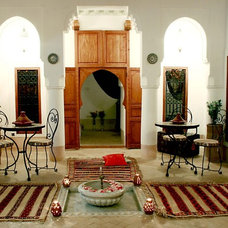 Eclectic Family Room Rustic ethnic
