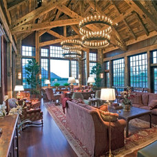Rustic Family Room by Big-D Signature