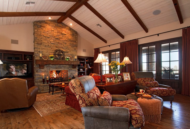 Rustic Family Room Rustic Family Room