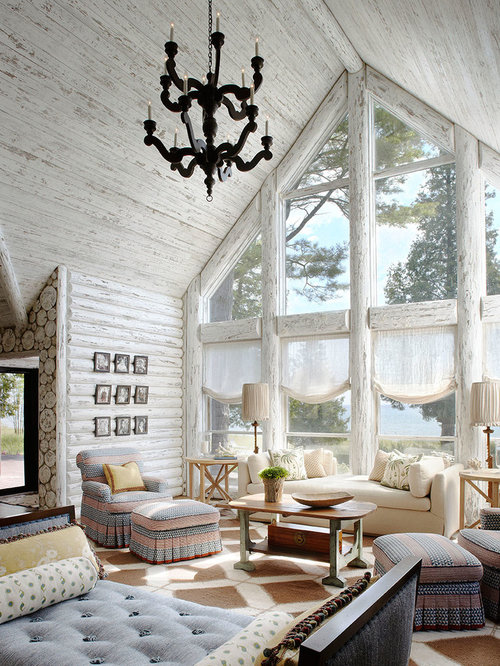 Log cabin interiors home design ideas pictures remodel for Log home interior designs