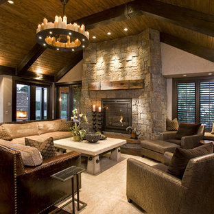 75 Trendy Rustic Family Room Design Ideas - Pictures of Rustic ...
