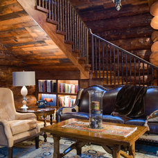 Rustic Family Room by M|A|Peterson