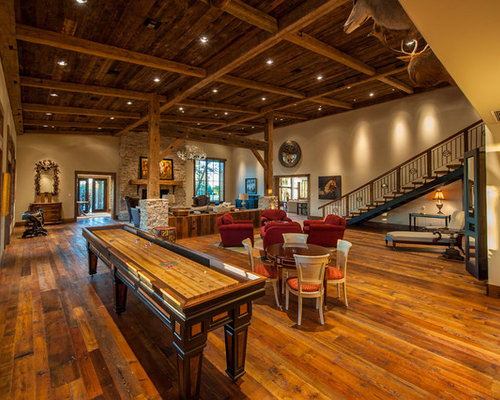 Best Rustic Game Room Design Ideas & Remodel Pictures | Houzz