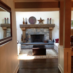Rustic Fireplace Mantels - Custom Reclaimed Wood Mantle Surround