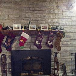 Rustic Fireplace Mantels - Hand Hewn Barn Beam Mantle