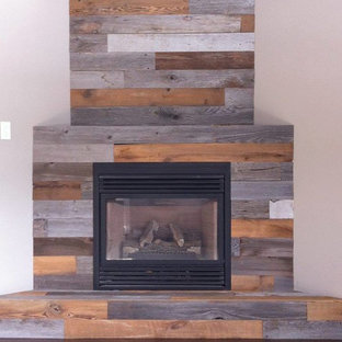 Rustic Fireplace Panelling